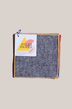 atelier saucier rainbow chambray cocktail napkin set