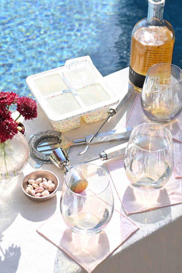atelier saucier blush linen pink cocktail napkins