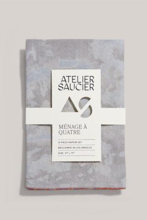 atelier saucier sunrise linen napkin set