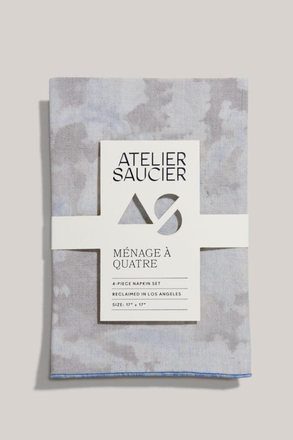 atelier saucier blue sky linen napkin set