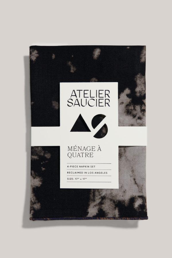 atelier saucier after dark linen napkin set