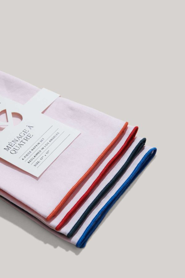 atelier saucier the polo set pink linen napkins